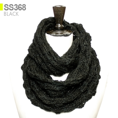 NEW NATURAL SOFT VINTAGE WOMEN EXTRA LARGE PLAIN KNIT INFINITY SCARF// MSF0340