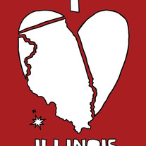 Illinois love, 5x7 print