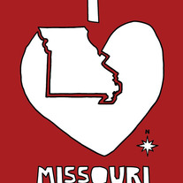 Missouri love, 5x7 print