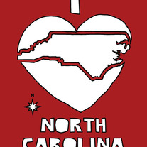 North Carolina love, 5x7 print