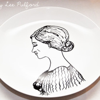 Hand Painted Vintage Plate, Fashion Illustration, She Knows