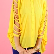 Cutout Sleeve Blouse