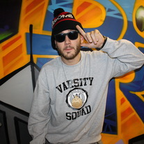 Grey/Black Varsity Squad Crewneck