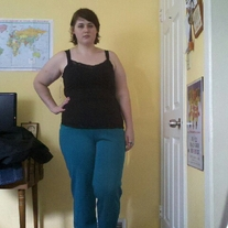 Cape Cod Match Mates Teal Pants sz 20
