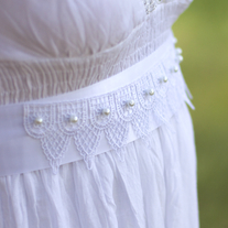 Bridal Sash with Lace and Pearls  - Thumbnail 1