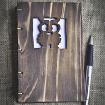 Handcrafted Wooden Owl Letterpress Sketch/Journal Book