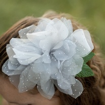 Platinum Dahlia Fascinator - Thumbnail 1