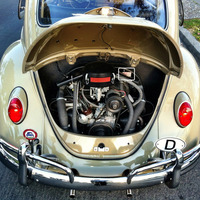 VW Beetle Valve Adjustment Decals - Thumbnail 1