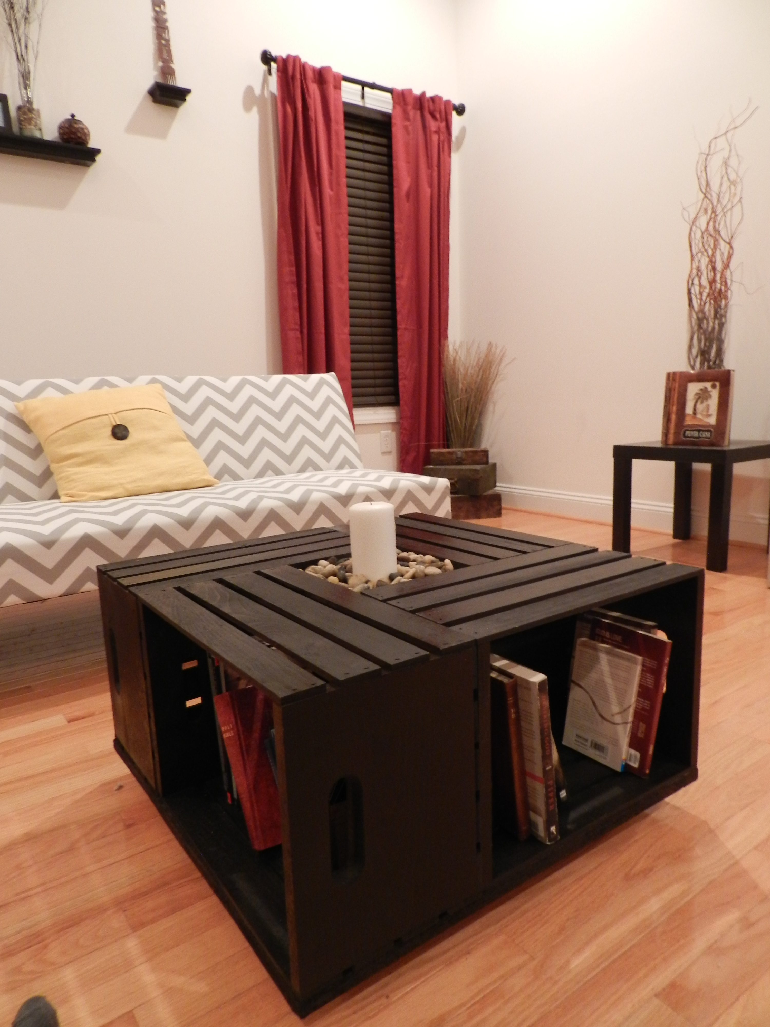 Light wood coffee table - Wooden Crate Coffee Table 183 Crate Creations 183 Online Store Powered