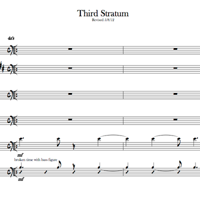 Third stratum (score and parts)