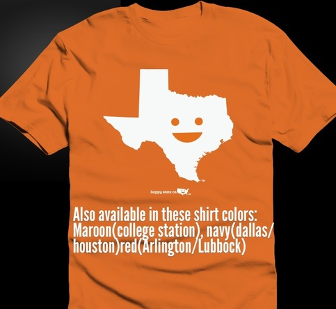 Happy state co texas t shirt on storenvy for Texas tee shirt company