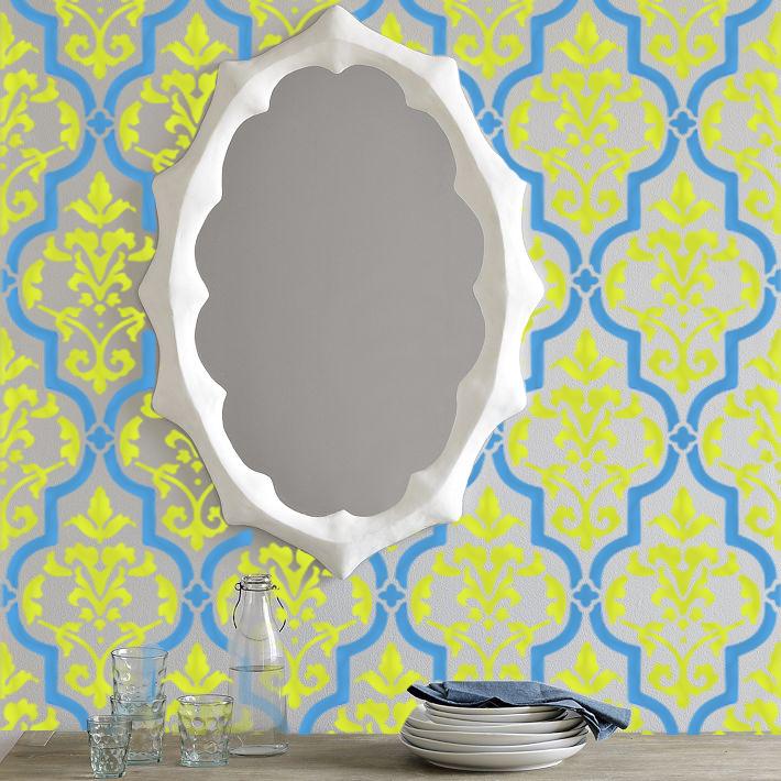 Tafra moroccan geometric old world allover designer pattern wall