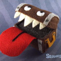 Needle Felted Monster Sculpture - Jack the Mimic