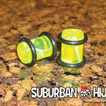 Highlighter Yellow UV Marble Plug