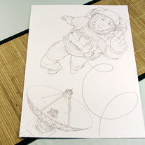 Original Drawing: Astronaut