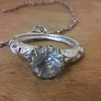 Giant Diamond Ring Necklace