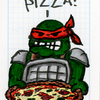 Sketch Card: Ninja Turtle