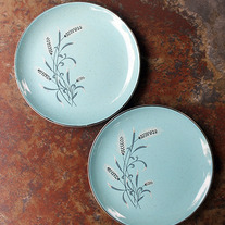 Vintage Bread Plates - Wheat's the Matter