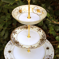 "Tiered Cake Stand - ""Wedded Bliss"""