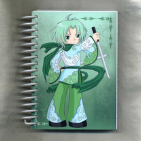 Notebook S - Elemental Chibi Bishonen: Wind