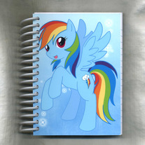 Notebook S - My Little Pony FiM: Rainbowdash (Fanart)