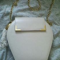 She's Sassy White Leather Purse
