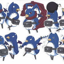 Stickers - Disgaea Prinnies Set of 10 (Fanart)
