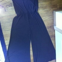 MSK Black Strapless Jumpsuit L