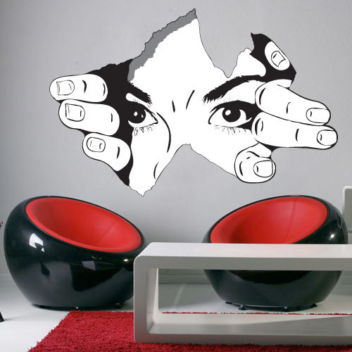 Attractive The Observer Torn Wall Effect Sticker Decal