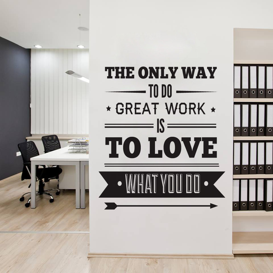 Office Decor Typography Inspirational Quote Wall Decoration Art  sc 1 st  Moonwallstickers.com - Storenvy & Office Decor Typography Inspirational Quote Wall Decoration Art ...