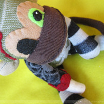Ruby Von Decay Zombie Monkey Halloween Sock Monkey Handmade Doll