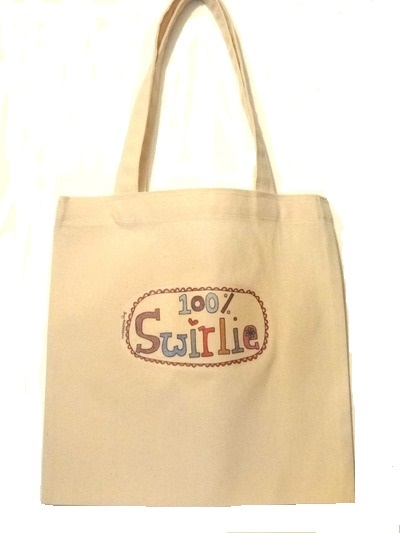 "Adult Tote Bag - ""100% Swirlie"""