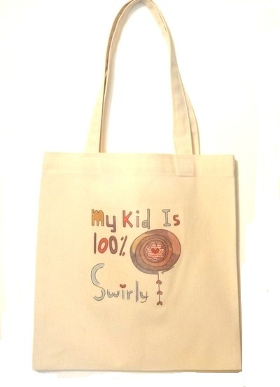 Adult Tote Bag - My Kid Is 100% Swirly