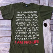 Human Being T-shirt Olive Green