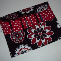 Crochet Hook Case Red & Black