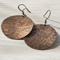 Sun Disc Earrings
