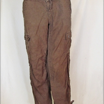 Old Navy Ultra Low Waist Brown Linen Pants