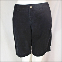 Black Low Rise Walking Shorts