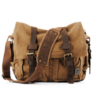 Vintage leather and canvas messenger bags mens · Vintage rugged ...