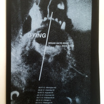 Dying - Vegan Hate Edge tour poster