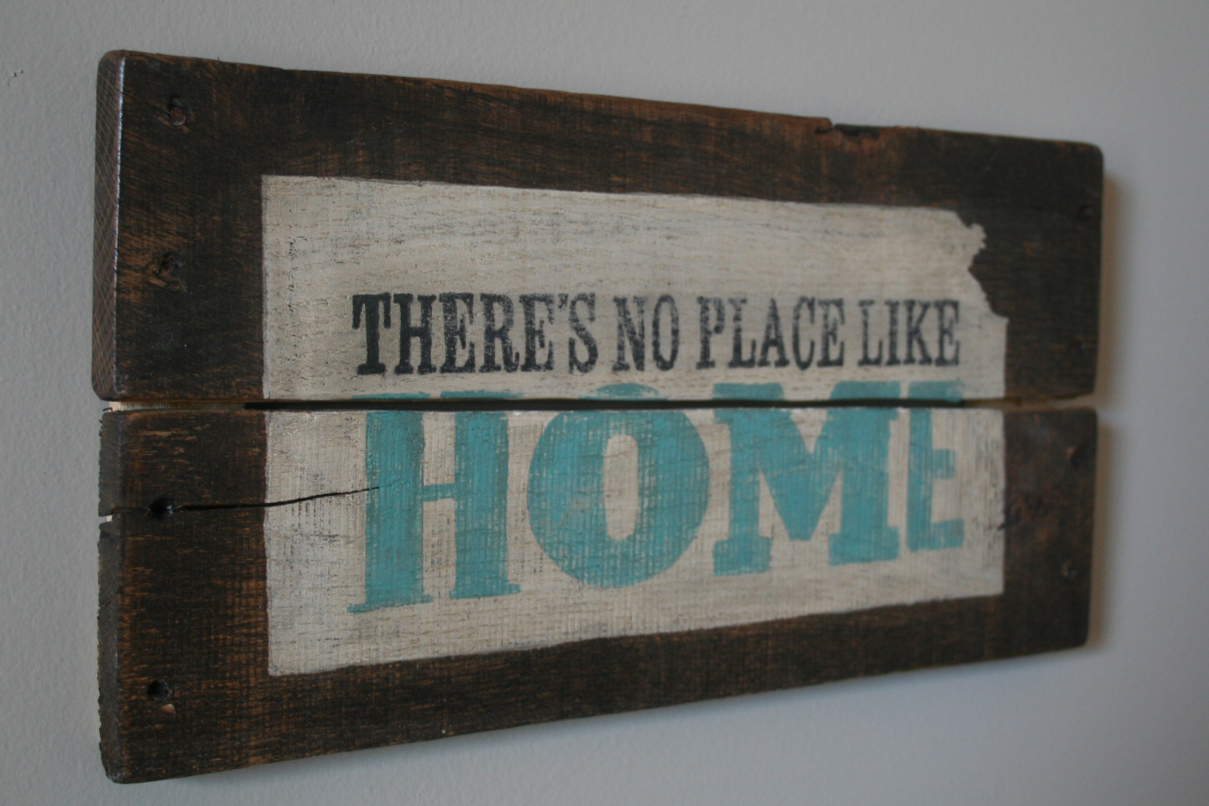 There's No Place Like Home Hand Painted Pallet Sign ...