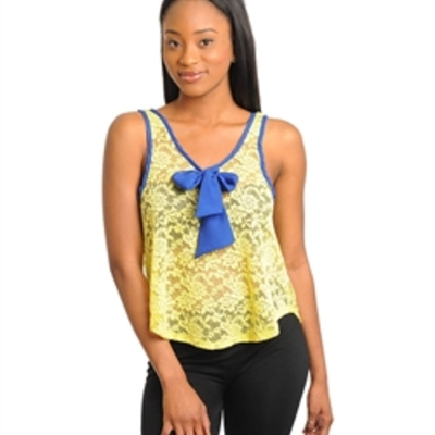 Yellow blue top