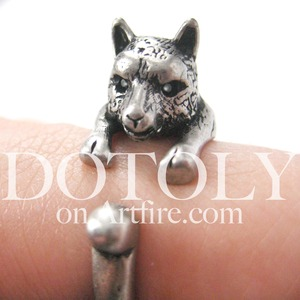3D llama Horse Animal Wrap Ring in Silver - Sizes 4 to 9 Available