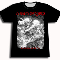 "A Band of Orcs - ""Adding Heads to the Pile"" T-shirt"