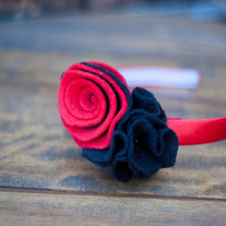 Black & Red Deux Headband