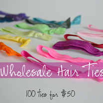 Wholesale Elastic Knot Hair Ties - YOU Pick the Colors - Set of 100 - 40 Color Choices