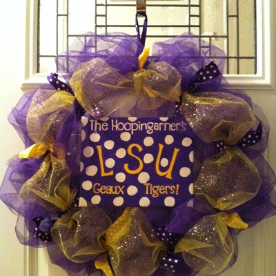 Team deco mesh wreath