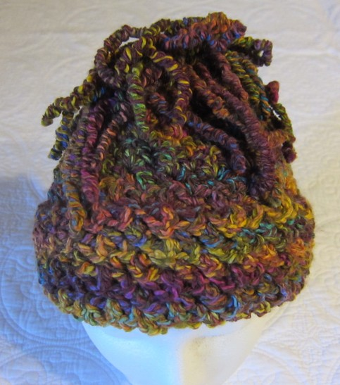 Crochet Hat/Multi Color Cool Curly Q Yarn !!!For The Next Month All ...