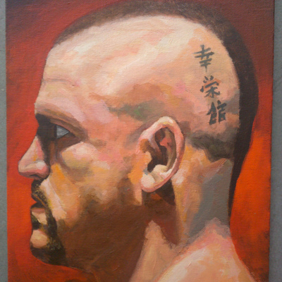 Painting of ufc fighter - chuck liddell