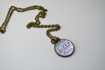 JUSTICE Scripture Faith Necklace Pendant - for Project Hopeful AWASSA